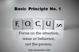 The basic principles: How to deal with difficult people