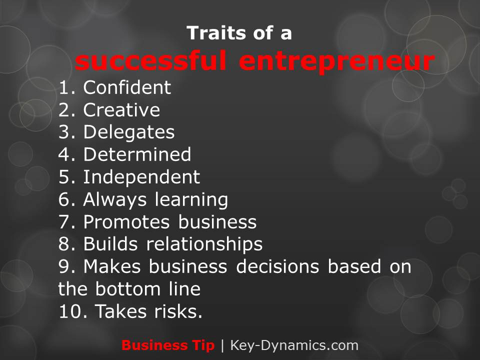 success entrepreneur key dynamics