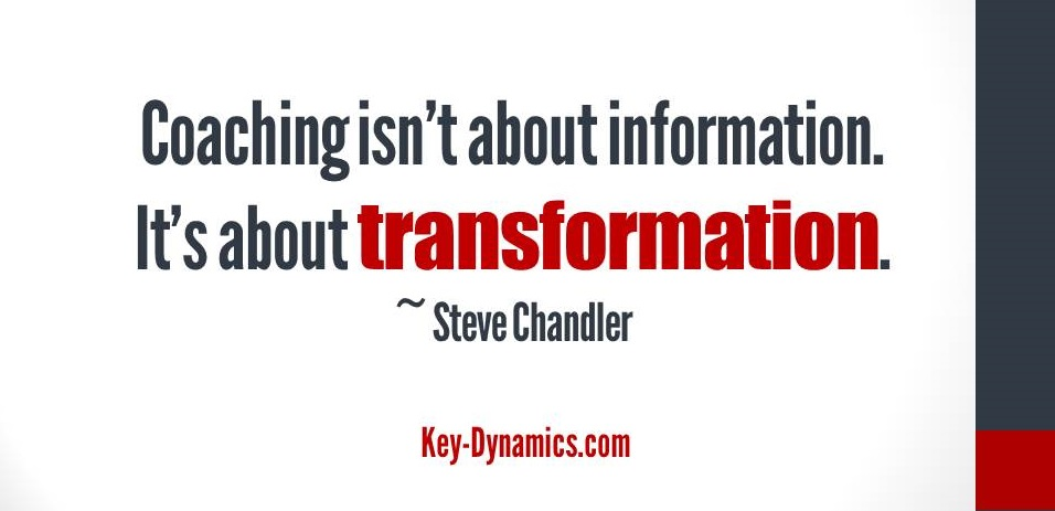 coaching information transformation
