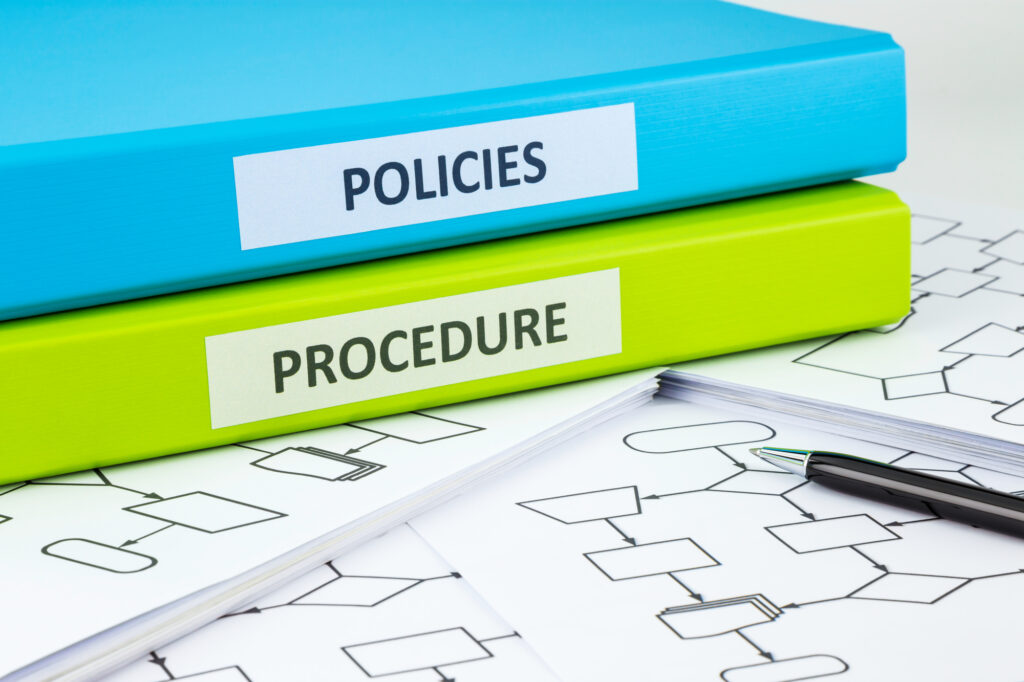 notebooks for policies and procedures